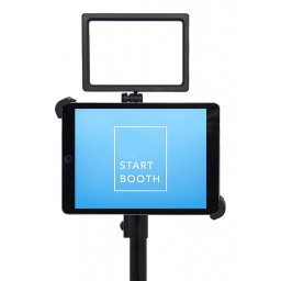 "G10 Pro DIY iPad Tablet Photo Booth Portable Tripod Stand with High Intensity Basic 160 LED Light Kit, Fits 7-11"" iPad"